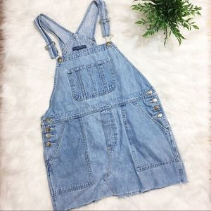 Mountain Lake Denim Overalls Dress 100% Cotton M